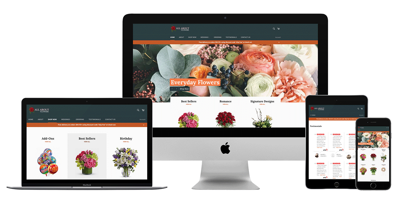 all about flowers case study image